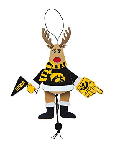 NCAA Iowa Hawkeyes Wooden Cheer Ornament