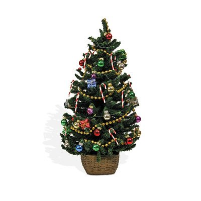Byers' Choice Decorated Tree with Lights Figurine