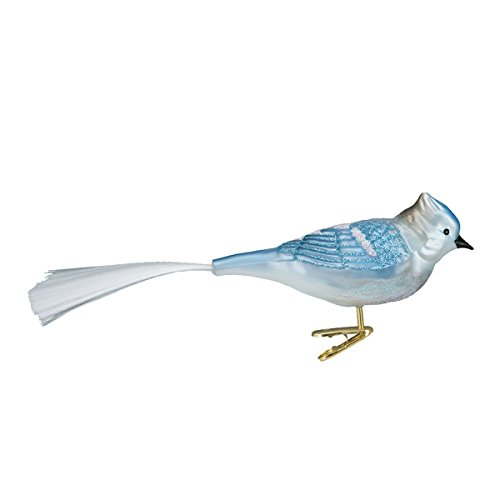 Old World Christmas Blue Jay Glass Blown Ornament