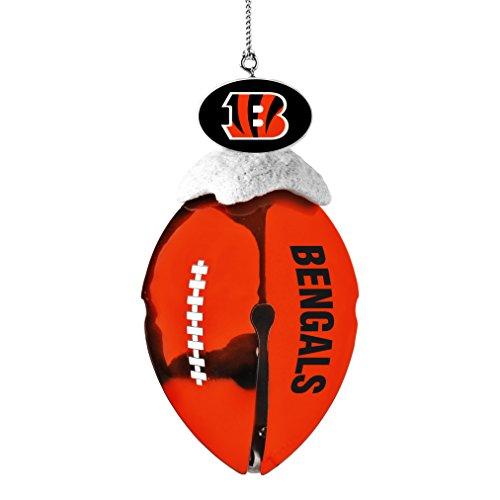 NFL Cincinnati Bengals Metal Football Bell Ornament