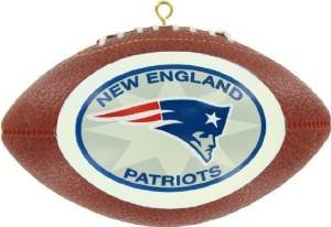 NFL Offically Licensed New England Patriots Replica Football Ornament