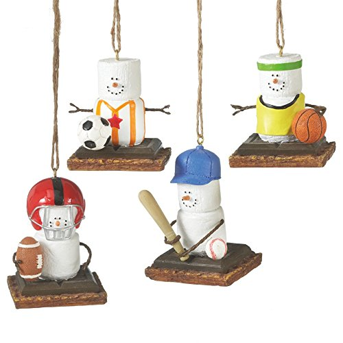 2.5″ S'mores Marshmallow Football Sports Decorative Christmas Ornament