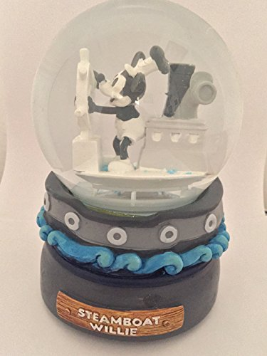 Mickey Mouse Steamboat Willie Musical Snow Globe