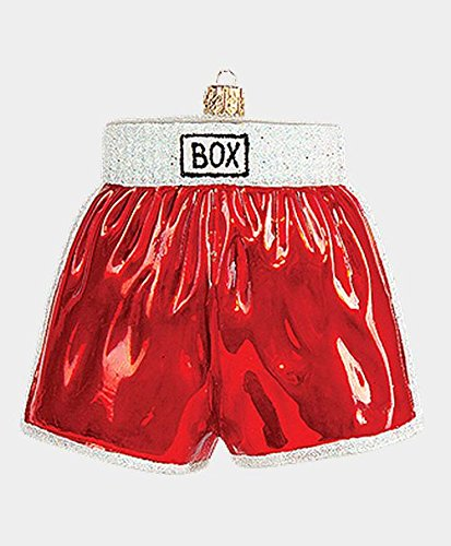 Boxing Shorts Polish Blown Glass Christmas Ornament Sports Decoration Boxer