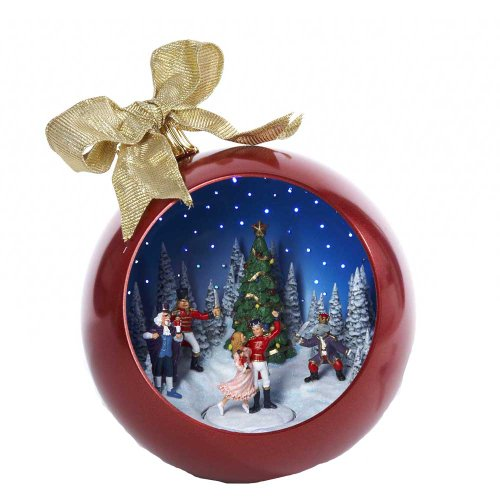 Kurt Adler 250mm Musical Nutcracker Suite Ballet Scene Ball