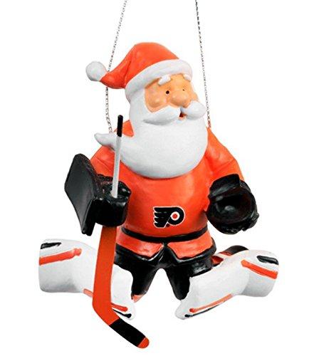 Philadelphia Flyers NHL Christmas Tree Ornament Action Santa Goalie
