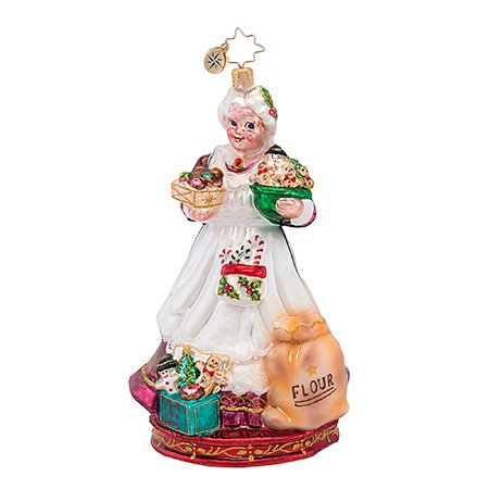 Christopher Radko Glass Cookies To Go! Mrs. Claus Christmas Ornament #1016903