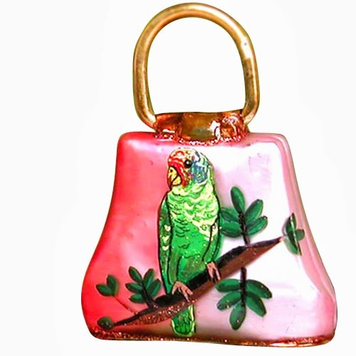 Ornaments to Remember: HANDGBAG Christmas Ornament (Parrot)