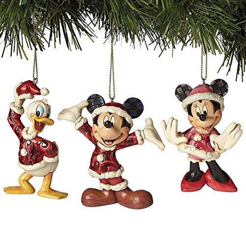 Jim Shore Disney Santa Mickey, Mrs. Clause, and Donald Elf Figurine