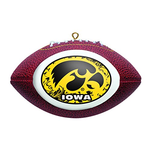 NCAA Iowa Hawkeyes Replica Football Ornament