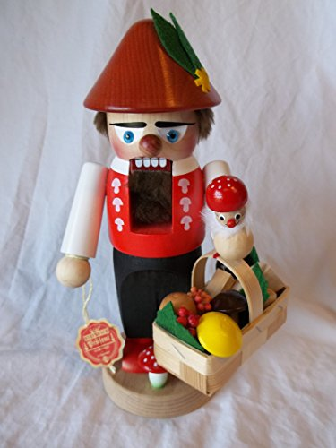 Steinbach Gm Bh Christmas Decorations ,Gifts and Ornaments Handmade in Germany Wooden 12″ Black Forester with Basket Nutcracker