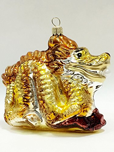 Ornaments to Remember: DRAGON Christmas Ornament (Gold/Brown)