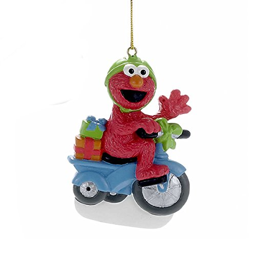 Kurt Adler 3.5″ Bas-relief Resin Sesame Street Elmo Personalization Ornament