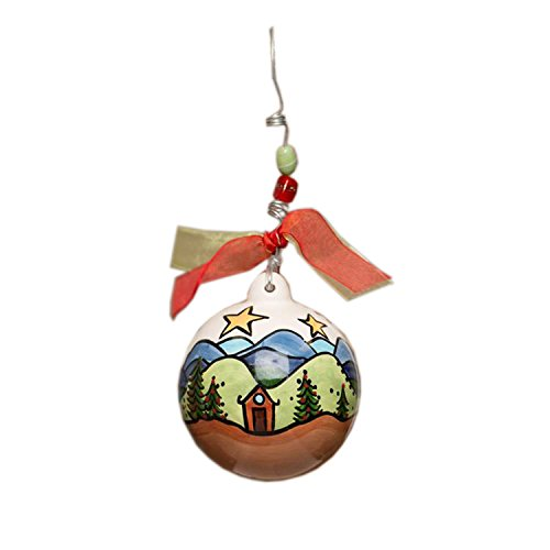 Glory Haus in The Mountains Ball Ornament, 4-Inch