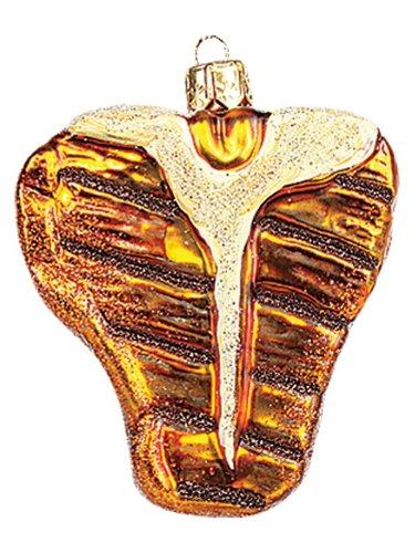 Miniature T-Bone Steak Polish Blown Glass Christmas Ornament Tree Decoration