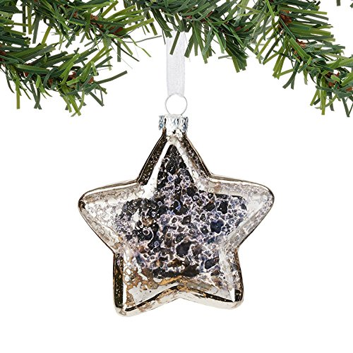 Snowbabies Department 56 Dream Collection Silver Star Ornament, 3.25″