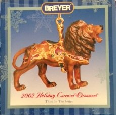 Breyer #700502 Holiday Carousel Ornament Lion 2002
