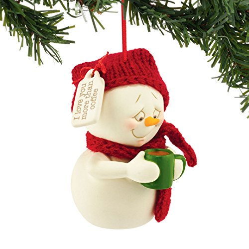 Department 56 Snowpinions From Love You More Than Coffee Ornament 3 In