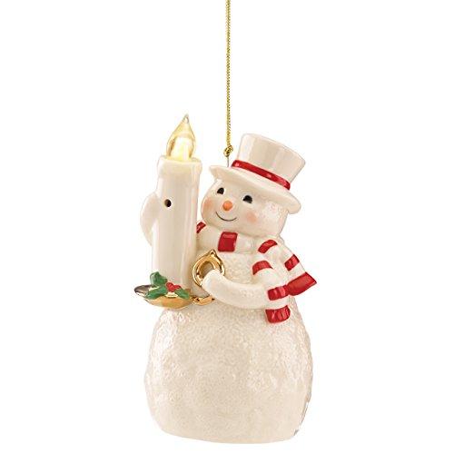 Lenox Blow Out The Lights Sensor Snowman Hanging Ornament
