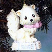 "Precious Moments ""Bright Eyed & Bushy Tailed"" Porcelain Ornament"