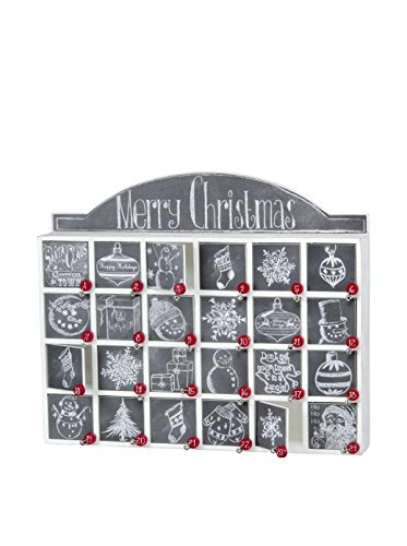 Chalkboard Wooden Advent Calendar with Doors from Primitives by Kathy