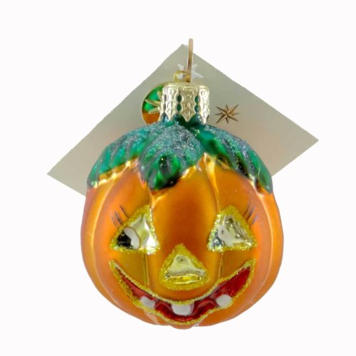 Christopher Radko GRIN 'N' GRIMACE Glass Ornament Halloween Pumpkin