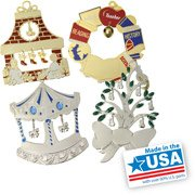 Gloria Duchin Charming Christmas Ornaments, 12-Piece Set