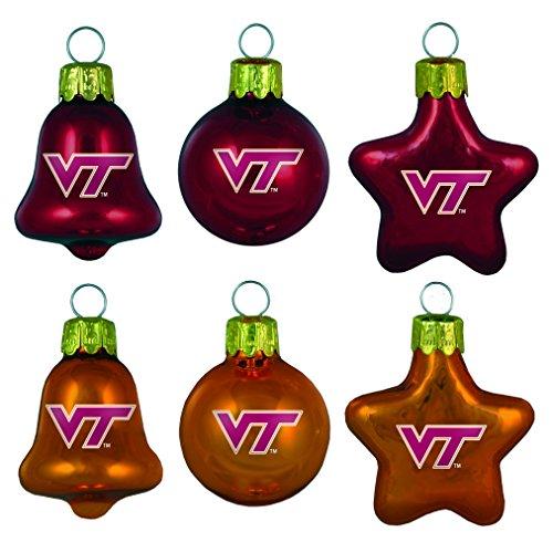 NCAA Virginia Tech Hokies 6-Pack Ornament Set