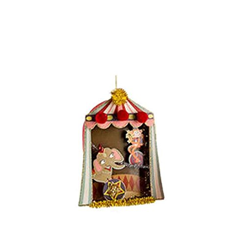 One Hundred 80 Degrees Circus Theme Hanging Paper Ornament (Elephants)