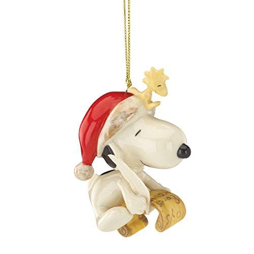 Lenox Snoopy's List for Santa Ornament