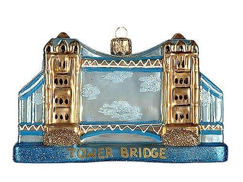 Tower Bridge London England Polish Blown Glass Christmas Ornament Decoration by Pinnacle Peak Trading Company