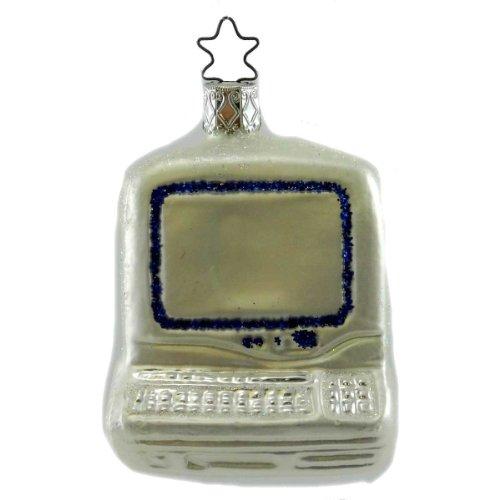 Inge Glas COMPUTERIZATION Blown Glass Ornament Compter Desk Top 105506