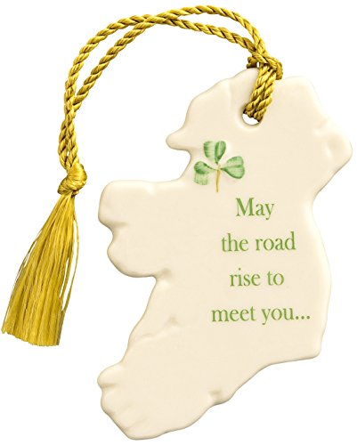 Belleek 3995 'May The Road Rise to Meet You' Ornament, 3.1-Inch, White