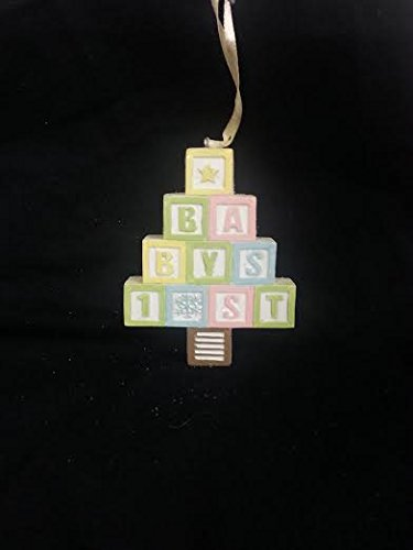 Baby's 1st Letter Blocks Christmas Ornament