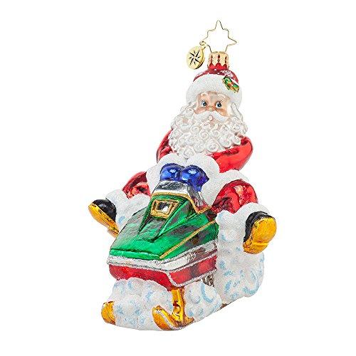 Christopher Radko Ho Ho Hold On Tight Christmas Ornament