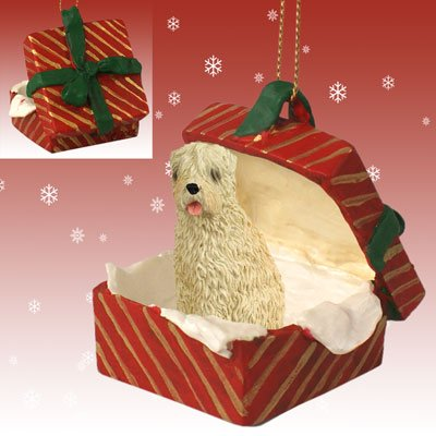 Conversation Concepts Soft Coated Wheaten Terrier Gift Box Red Ornament