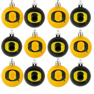 NCAA Ball Ornament (Set of 12) NCAA Team: Oregon