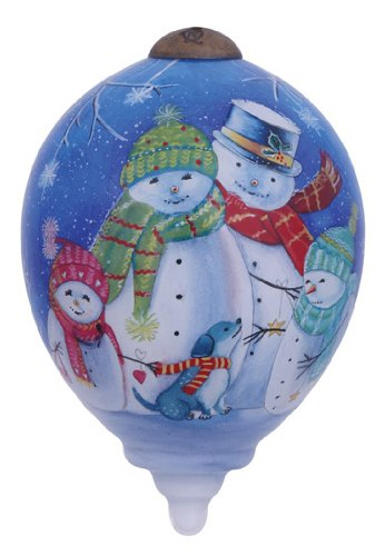 "Ne'Qwa Art, Christmas Gifts, ""Bless This Family"" Artist Sarah Summers, Petite Princess-Shaped Glass Ornament, #7141137"