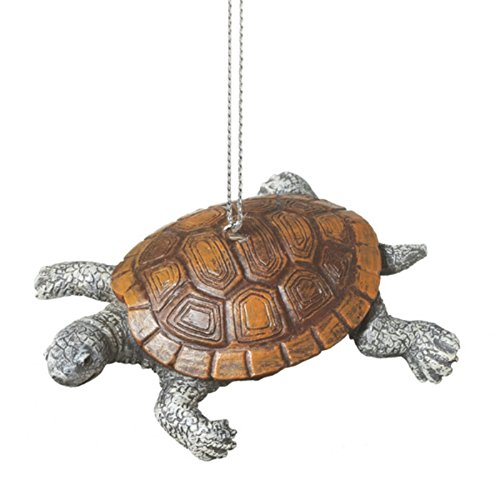 Black Diamond Turtle Ornament