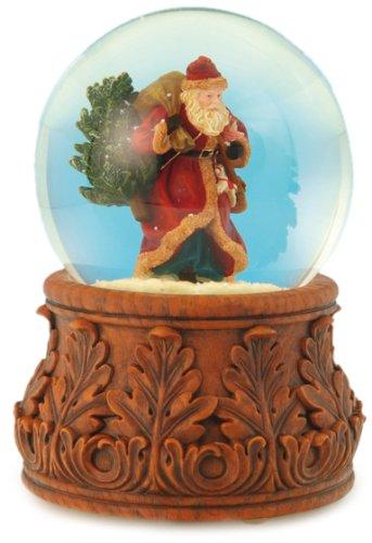 "MusicBox Kingdom 51029 Santa Snow Globe Music Box Playing ""Santa Claus is Coming to Town"""