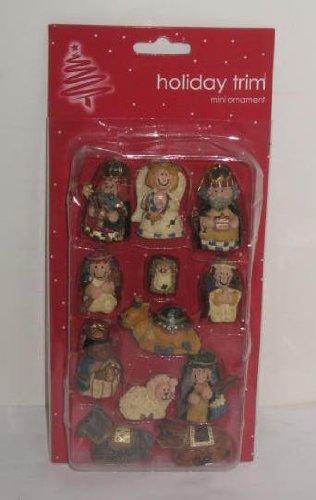 Kurt Adler Miniature Tree Ornaments -12 pc Mini Ornaments