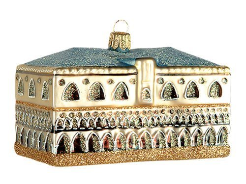 Doges Palace in Venice Italy Polish Blown Glass Christmas Ornament Decoration by Pinnacle Peak Trading Company