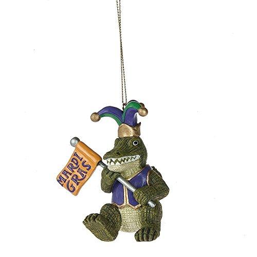 Midwest-CBK Mardi Alligator Resin Ornament