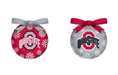 Ohio State Buckeyes Official NCAA LED Box Set Ornaments by Evergreen Enterprises