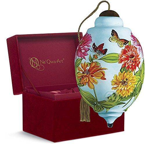"Ne'Qwa Art, Housewarming Gifts, ""Hummingbird"" Artist Sandy Lynam Clough, Petite Trillion-Shaped Glass Ornament, #7161181"