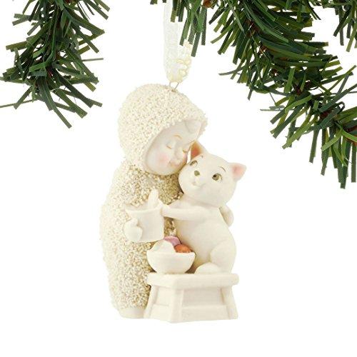 Snowbabies Ice Cream Break Baby with Cat Porcelain Christmas Ornament 4051940