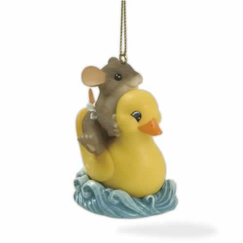 Charming Tails Rubber Ducky Fun Ornament