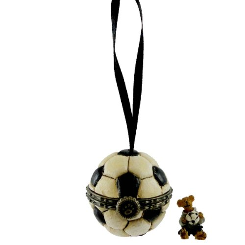 Boyds Bears Resin READY SET GOAL HINGED BOX 257570 Ornament Soccer New
