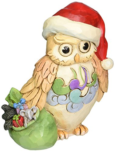 Jim Shore for Enesco Heartwood Creek Mini Christmas Owl Figurine, 3.5-Inch
