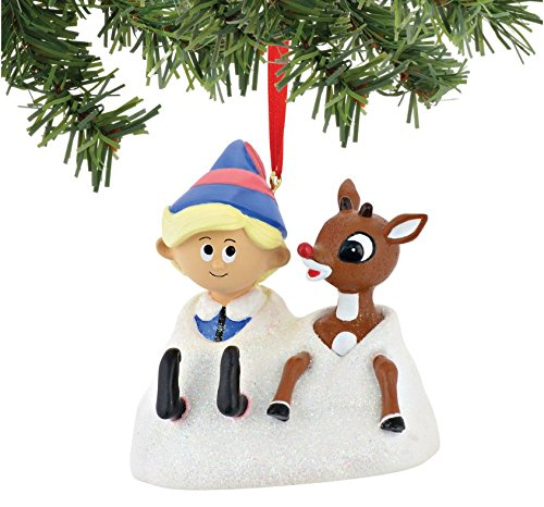 "Department 56 North Pole ""Rudolph and Hermey"" Christmas Ornament #4045006"